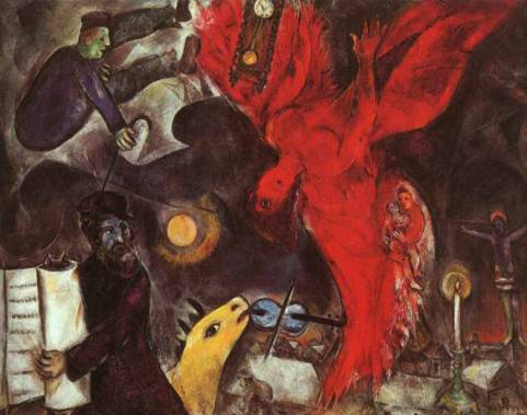 La caduta dell'angelo, Marc Chagall, 1923-47, oil on canvas