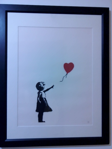 Bansky, Girl with balloon, 2004